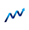 financial growth arrow up symbol design vector image