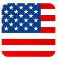 flat flag united states america vector image vector image