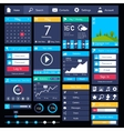 Flat user interface template vector image