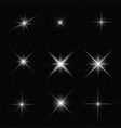 glare star sparkling vector image