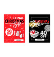 half price 40 percent discount posters clearance vector image vector image