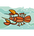 happy crayfish cartoon vector image vector image