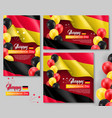 happy germany independence day posters vector image