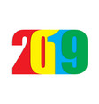 happy new year 2019 text vector image vector image