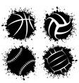 ink blots grunge sport balls vector image vector image