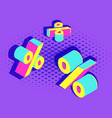 isometric advertising promotion banner template vector image vector image