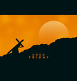 jesus christ carrying cross for his crucifixion vector image vector image