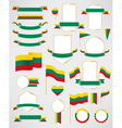 Lithuania flag decoration elements vector image vector image