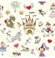Little princess seamless pattern vector image vector image