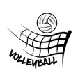 logo volleyball made with a drawing style vector image vector image