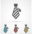 Necktie colorful flat trendy icon vector image vector image