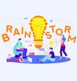 office team ideas and brainstorm light bulb lamp vector image