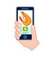 online sea food delivery service icon vector image