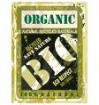 organic bio label vector image vector image