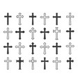 outline christian crosses vector image vector image
