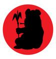 panda silhouette vector image vector image