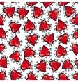 Pinned or nailed cartoon heart seamless pattern vector image vector image