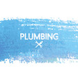 plumbing repair and service banner with abstract vector image vector image