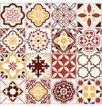 portuguese tiles lisbon art pattern vector image vector image