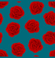 red rose on indigo blue background vector image vector image