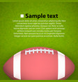 rugball on field vector image