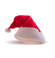 santa red christmas hat xmass vector image vector image