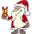 santa with gift cartoon vector image vector image