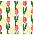 Seamless Pattern With Tulip 2 vector image vector image