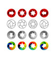 set of signs in the circular forms with the vector image vector image