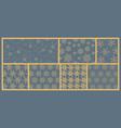 set seamless pattern on winter theme vector image