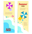 set vertical banner sunny summer day summertime vector image