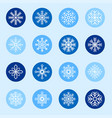 set white snowflakes on color backgrounds vector image