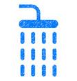 shower grunge icon vector image