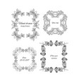 sketch ornamental floral design frames set vector image vector image