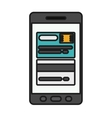 smartphone technology isolated icon vector image