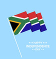 south africa independence day typographic design vector image vector image