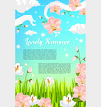 summer flowers and floral blooms poster vector image