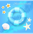 summer time seasonal poster vector image
