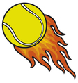 Tennis ball in fire