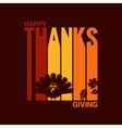 Thanksgiving turkey abstract background vector image