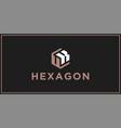 Uk hexagon logo design inspiration