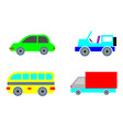 urban transport colored city image vector image vector image
