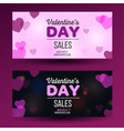 valrntines day flyer with red background layout vector image vector image