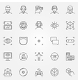 Virtual reality icons set vector image