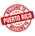 welcome to Puerto Rico vector image vector image
