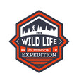 wildlife expedition vintage isolated badge vector image