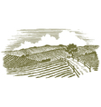 Woodcut Countryside vector image vector image