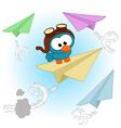 bird pilot vector image