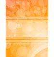 Orange light background vector image