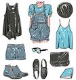 stylish fashion set vector image